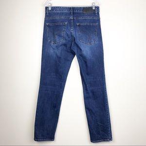 Calvin Klein Jeans Jeans - Calvin Klein Slim Straight Mid-Rise Blue Jeans